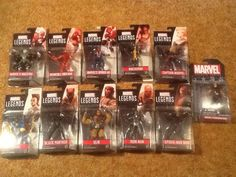 Marvel Legends 2017 3.75 Lot of 11: Maestro X-23 Wolverine Spiderman Panther