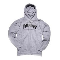 Thrasher Skate Mag Hoodie:  ArtNr 10202009732 Thrasher Skate, Thrasher Magazine, Sneaker Stores, Cute Sweaters, Grey Hoodie, Direct To Garment Printer, Hooded Jacket, Overalls, Graphic Sweatshirt