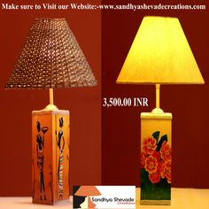 Left a base with hand painted lady in her pristine beauty & Right a base with hand created artwork of flowers. Order soon! For more Details call +91-9967289216