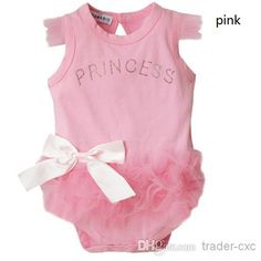 Baby Girl Pink Bodysuit Princess Kid Lace Newborn Baby One-Piece & Romper   Buy Wholesale On Line Direct from China