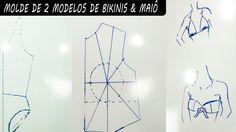 Tutorial de Modelagem- Preparando Bojo,2 Modelos de Biquíni e Maiô   TODAS AS ETAPAS DO BIQUINI E MAIÕ
