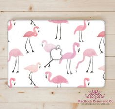 Flamingo MacBook Case, Hard Plastic Top and Clear bottom MacBook Cases, - MacBook Pro Cases, MacBook Air Cases by MacBookCasesandCo on Etsy