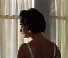 Elizabeth Taylor in Cat on a Hot Tin Roof (1958, dir. Richard Brooks)
