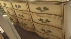 French Provincial Dresser in Mint