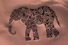 picture of a elephant tatoo with graphics inside | by iruhdam featured by lilyas aztec living among the elephants
