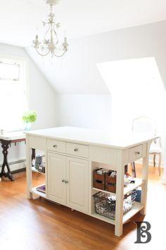 Office or craft room Island storage/work space