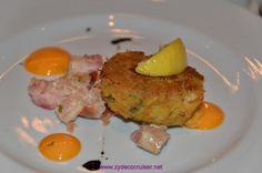 Carnival Elation, MDR Dinner, Crab Cake,