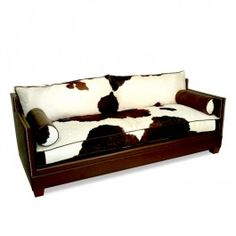Rubicon Peak Hair on Hide Sofa