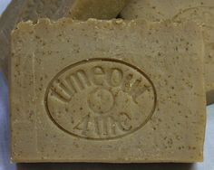This is one of my favorite goat's milk facial/body soaps due to its wonderful scent, luxurious lather, and slightly abrasive nature (ground oatmeal). The ingredients, like pure honey, give it a light vanilla shade, so no artificial colors were added. The scent is a result of a combination of ground oatmeal, goat's milk, honey, as well my favorite OMH fragrance oil. Oatmeal, Milk & Honey Goat's Milk Soap. $6 for 4.5 ounces.