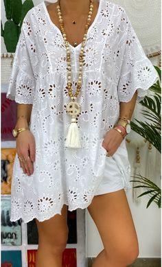 White Fashion, Boho Fashion, Boho Outfits, Fashion Outfits, Looks Plus Size, Denim Shirt Dress, African Fashion Dresses, Casual Dresses, Short Dresses
