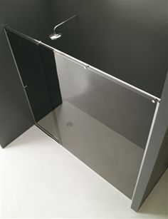 cabina doccia in nicchia con anta scorrevole_cristallo grigio fumé