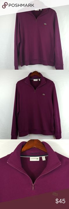 Activewear Honest Lovely Lacoste Zip Up Sweatshirt Hoodie Designer Size 7 Great Condition Hoodies & Sweatshirts