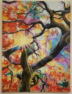 Free shipping, original oil on canvas, 45 cm x 60 cm, autumn forest, sunny day by SoulArtAlina on Etsy Autumn Forest, Tree Art, Oil Paintings, Sunny Days, Oil On Canvas, Free Shipping, The Originals, Unique Jewelry, Handmade Gifts