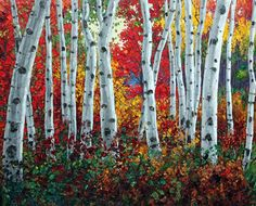 Aspen Paintings and Birch Tree Art by Jennifer Vranes