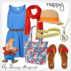 """""""Happy - from Disney's Snow White and the Seven Dwarves"""" by elliekayba on Polyvore"""