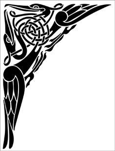 Spandrel stencil from The Stencil Library CELTIC range. Buy stencils online. Stencil code CE37.