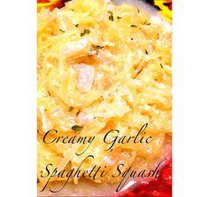 Creamy garlic spaghetti squash | HellaWella