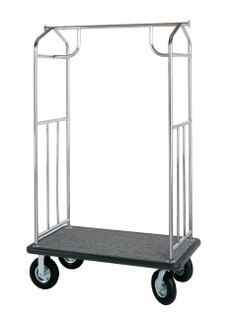 Value Valet Bellman's Cart - Stainless Steel Finish- Bellman's Carts- Wholesale Hotel Products