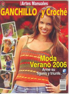 Album Archive - Ganchillo y Croche 2006 Knitting Magazine, Crochet Magazine, Crochet Bikini Top, Knit Crochet, Knitting Patterns, Crochet Patterns, Simply Crochet, Crochet Books, Crochet Chart