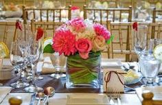 Image result for pink green wedding centerpieces