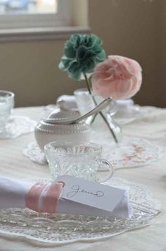 fabric flowers/ centerpieces
