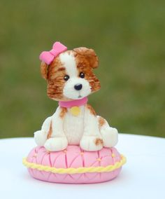 Fondant cake topper  Puppy/Dog by HappyCaker on Etsy