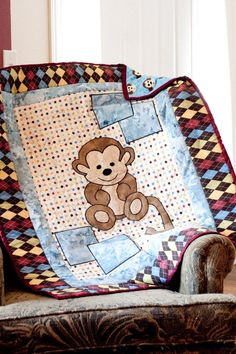 Jennys Quilts  Blankets: Monkey Baby Blanket Raffle at the Madison Street Festival
