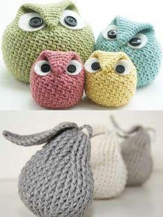 Grumpy Crochet Owls
