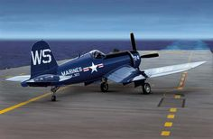 F4U Corsair, one of WWII's greatest fighter planes. It could outfight, outclimb and (if need be) outrun any prop driven enemy.
