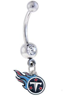 Sports Body Jewelry - Tennessee Titans NFL Belly Ring, $12.99 (http://www.sportsteambodyjewelry.com/tennessee-titans-nfl-belly-ring/)