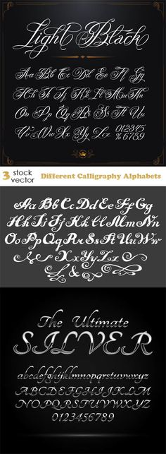 Vectors - Different Calligraphy Alphabets                                                                                                                                                                                 More