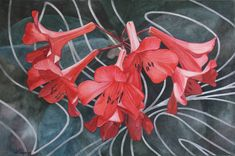Browse through images in Jan Lawnikanis' Flower Paintings collection. Painting flowers is my passion! Here is a selection of floral paintings in various mediums. New Artists, Great Artists, Rhythmic Pattern, Buy Art Online, Paintings For Sale, Artist Art, Cool Artwork, Online Art Gallery, Red Flowers