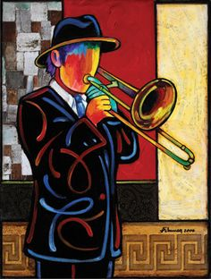 Trombone, Abstract Portrait, Abstract Art, Jazz Art, Reggae, Art Pictures, Artsy, Sketches, Drawings