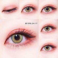 Anime Makeup, Lip Makeup, Makeup Cosmetics, Korean Makeup Look, Asian Eye Makeup, Sweet Makeup, Cute Makeup, Makeup Inspo, Makeup Inspiration