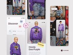 Mobile Shop, Layout, Ui Inspiration, Interface Design, Gabriel, Hooded Sweatshirts, Web Design, Platform, Apps