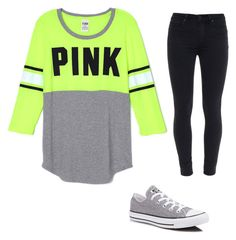 """""""Untitled #1"""" by kinzergirl on Polyvore featuring Paige Denim and Converse"""