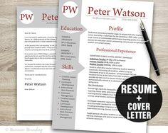 TEACHER Resume Template  Resume Cover Letter by BusinessBranding