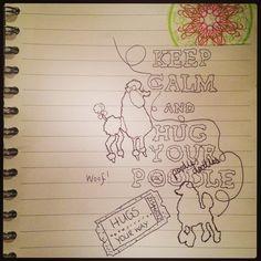 Poodle doodle by Sara Vasey x