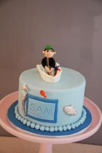 Fam S Cake Art Facebook : Fishing themed cake in yummy chocolate with jelly lakex...