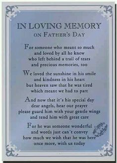 In Loving Memory on Father's Day - I miss you Daddy! Love you bunches! Rip Daddy, Miss My Daddy, Miss You Dad, Daddy Bear, Dad Poems, Fathers Day Poems, Happy Father Day Quotes, Dad Quotes, Grief Poems