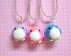 Some penguin polymer charms super chibi and kawaii