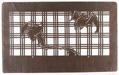 Stencil with Bats on a Lattice, 19th century. Japan. The Metropolitan Museum of Art, New York. Purchase, Mrs. Helen M. Meserve Gift, 1981 (1981.10.28) #bats #Halloween