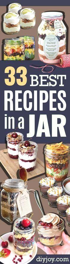 Best Recipes in A Jar - DIY Mason Jar Gifts, Cookie Recipes…