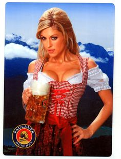 Boobs 'n Beer - exclusive at Oktoberfest, Munich, Germany Happy Birthday Meme, Birthday Greetings, Birthday Wishes, German Women, German Girls, Octoberfest Girls, Beer Maid, Estilo Cowgirl, German Oktoberfest