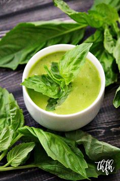 Gluten-Free Vegan Fresh Basil Vinaigrette...raw, vegan, gluten-free, dairy-free, lectin-free, paleo-friendly | The Healthy Family and Home #lectinfree