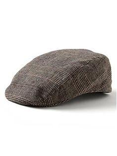 Brown plaid cotton driving cap | Banana Republic | $49.50