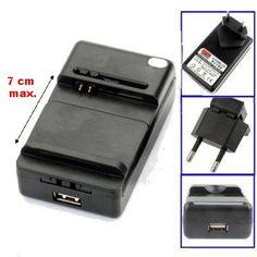 Cargador Universal de Baterías de Móvil, Cámara, etc - http://complementoideal.com/producto/cargador-universal-de-baterias-de-movil-camara-etc-modelo-34792/  - Siempre es muy conveniente llevar una batería de repuesto si usamos nuestro terminal mucho. Útil para cargar la batería de repuesto sin depender del teléfono móvil. 100% nuevo, de alta calidad Se detiene la carga una vez la batería esta cargada. Mantiene el rendimiento y la duración de la baterí...