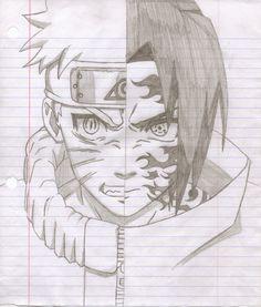 naruto drawings sasuke | Naruto vs Sasuke Drawings