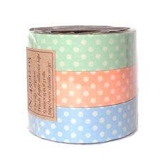 print masking tape 3 colors set: dot light