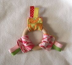Quick Ribbon Ring Teether Toy by patchyapple, via Flickr